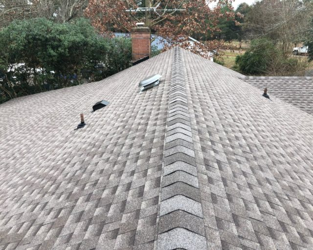 architectural asphalt shingles on home