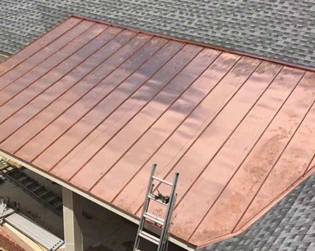 copper roof panels