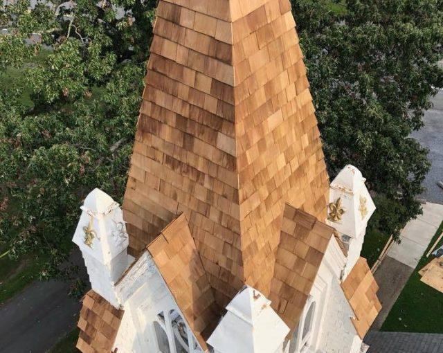 cedar shake on steeple