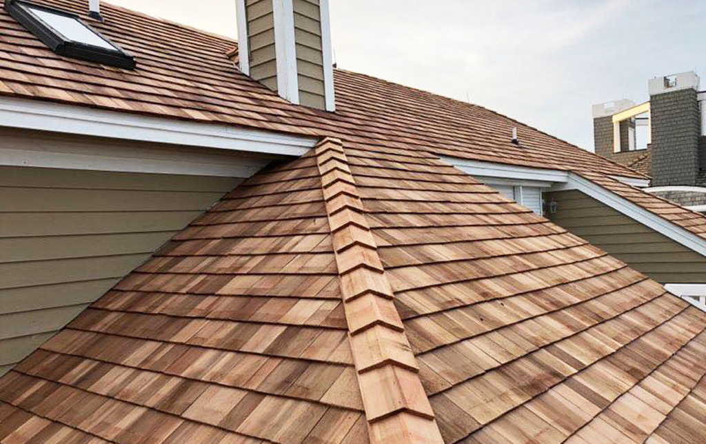 Cedar shake roof installed in Maryland