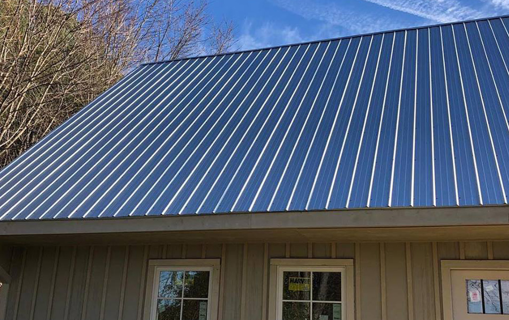 Standing seam metal roof in Maryland