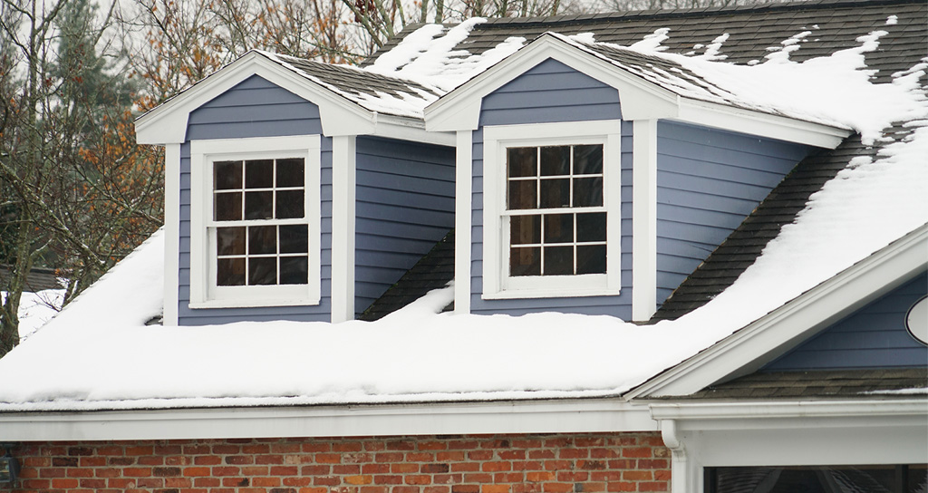 Home without winter roof leak