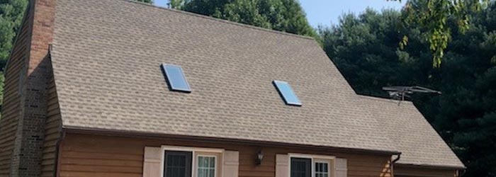 A shingle roof installed by local Maryland roofing contractors