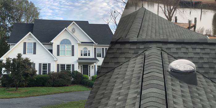 A completed residential roofing project by a roofing contractor serving Berlin, MD