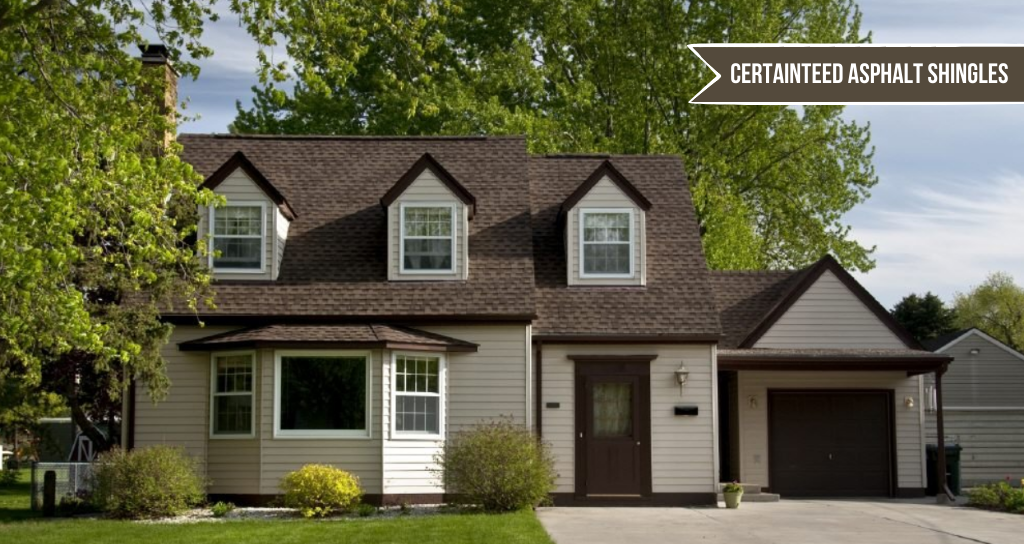Top asphalt shingles from Certainteed