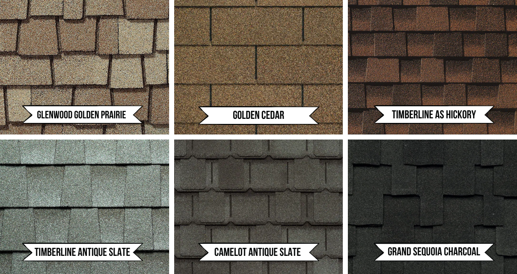 Best roof shingle colors labeled