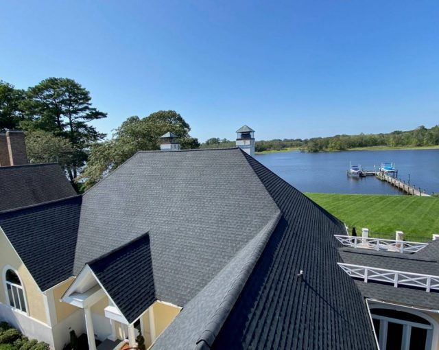 Residential roof in Maryland shore